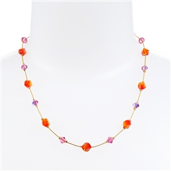 Melinda Necklace - Orange Pink