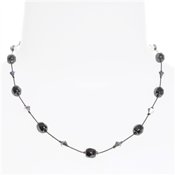 Melinda Necklace - Hematite
