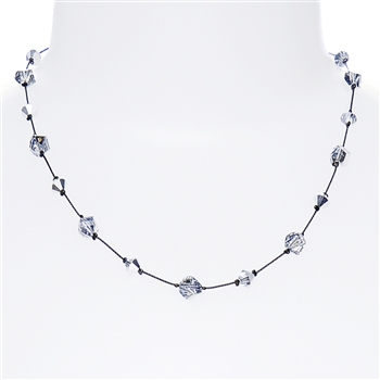 Melinda Necklace - Silver Crystal