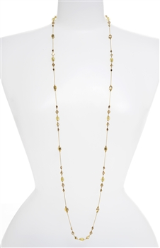 Natalie Long Necklace - Gold Shimmer