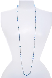 Natalie Long Necklace - Teal