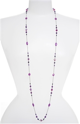 Natalie Long Necklace - Jewel Tone Multi
