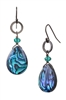 Paxton Drop Earring - Teal Abalone