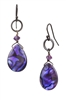 Paxton Drop Earring - Purple Abalone