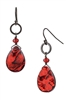 Paxton Drop Earring - Red Abalone