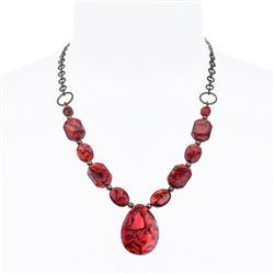 Paxton Pendant Necklace - Red Abalone