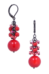 Ronnie Fabulous Long Earring - Coral