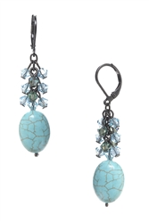 Ronnie Fabulous Long Earring - Turquoise
