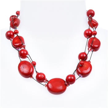 Ronnie Fabulous Necklace - Coral