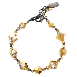 Ronnie Mae Bracelet - Gold Crystal