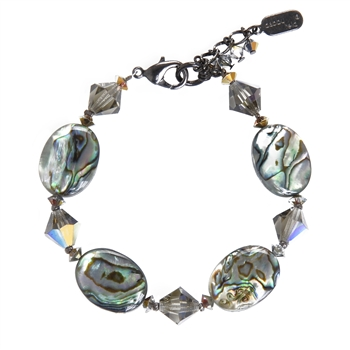 Ronnie Mae Bracelet - Natural Abalone