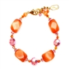 Ronnie Mae Bracelet - Orange / Pink