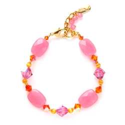 Ronnie Mae Bracelet - Pink / Orange