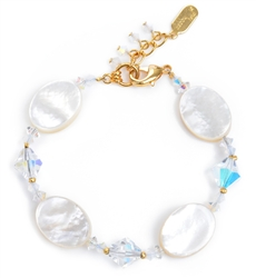 Ronnie Mae Bracelet - White Mother of Pearl