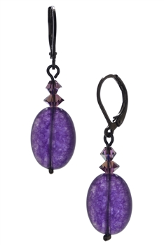 Ronnie Mae Drop Earrings - Purple
