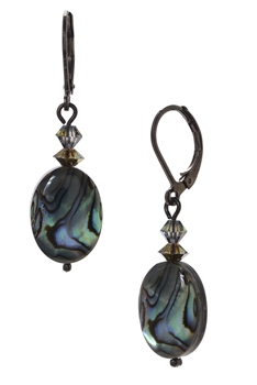 Ronnie Mae Drop Earrings - Natural Abalone