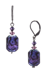 Ronnie Mae Drop Earrings - Purple Abalone