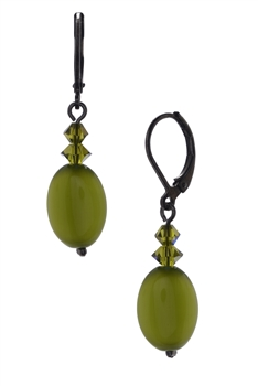 Ronnie Mae Drop Earrings - Olivine