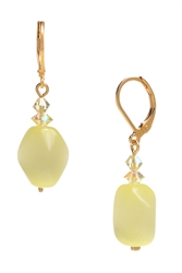 Ronnie Mae Drop Earrings - Soft Yellow