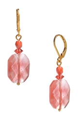 Ronnie Mae Drop Earrings - Coral