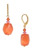 Ronnie Mae Drop Earrings - Orange / Pink