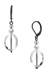 Ronnie Mae Drop Earrings - Crystal / Pearl