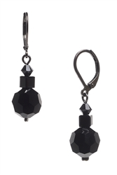 Ronnie Mae Drop Earrings - Jet Black