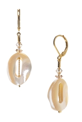 Ronnie Mae Drop Earrings - Mother of Pearl