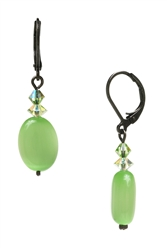 Ronnie Mae Drop Earrings - Peridot Green