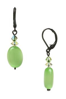 Ronnie Mae Drop Earrings Peridot Green