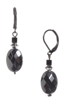 Ronnie Mae Drop Earrings - Hematite