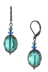 Ronnie Mae Drop Earrings - Teal / Blue