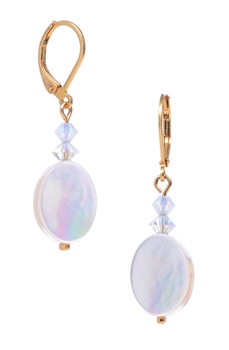 Ronnie Mae Drop Earrings - White Mother of Pearl