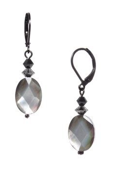 Ronnie Mae Drop Earrings - Black Shell
