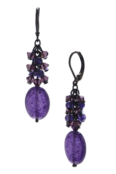 Ronnie Mae Long Earrings - Purple