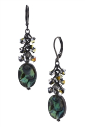 Ronnie Mae Long Earrings - Natural Abalone