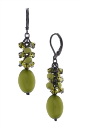 Ronnie Mae Long Earrings - Olivine