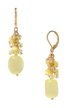 Ronnie Mae Long Earrings - Soft Yellow