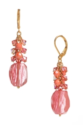 Ronnie Mae Long Earrings - Coral