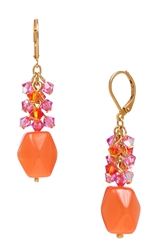 Ronnie Mae Long Earrings - Orange / Pink