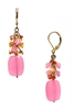 Ronnie Mae Long Earrings - Pink / Orange