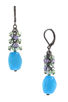 Ronnie Mae Long Earrings - Aqua Multi