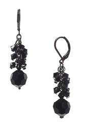 Ronnie Mae Long Earrings - Jet Black