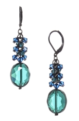 Ronnie Mae Long Earrings - Teal / Blue