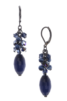 Ronnie Mae Long Earrings - Navy