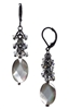 Ronnie Mae Long Earrings - Black Shell