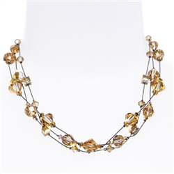 Ronnie Mae Necklace - Gold Crystal