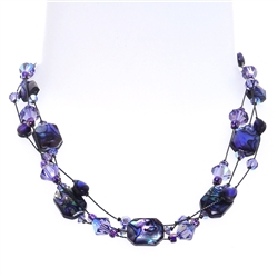 Ronnie Mae Necklace - Purple