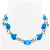 Ronnie Mae Necklace - Aqua Multi