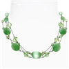 Ronnie Mae Necklace - Peridot Green